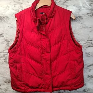 Gsp Sleeveless Red Jacket Vest Womens Down sz XL